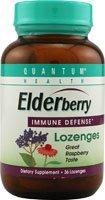 Quantum Cold Season Plus Thera Zinc Elderberry Lozenge, Raspberry - 36 Ea