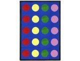 "Joy Carpets Kid Essentials Early Childhood Lots of Dots Rug, Multicolored, 5'4"" x 7'8"""