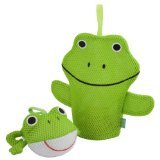 Rich Frog Wacky Wash Mitt and Bath Sponge Combo - Frog