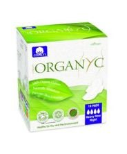 Organyc® Night Wings Feminine Pads, Pack of 10
