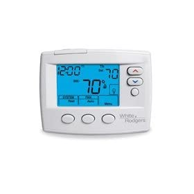 White Rodgers 1F80-0471 Single Stage, 5/1/1 Day, 5/2 Day Programmable or Non-Programmable Thermostat, 24 Volt or Millivolt System, 3-wire Zone