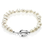 M&S Collection Freshwater Pearl T-Bar Bracelet