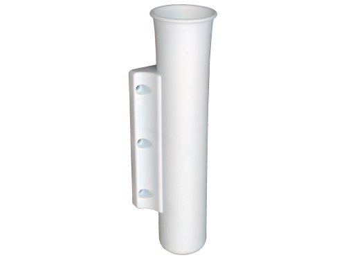 Rod Holder for Boats, Side Mount , White Plastic . Single, Five Oceans