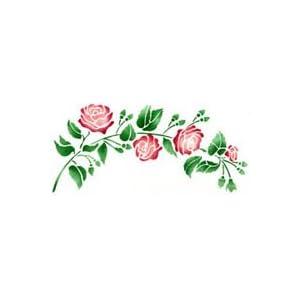 Amazon.com: Heirloom Rose Stencil - Stencil with Paints - Plastic