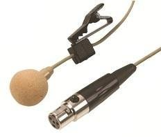 Lavalier Microphone With Tie Clip And 3Pin Mini Xlr Plug - Beige