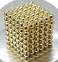 強力磁石の立体パズル!マグネットボール216個セット AZ-magnetball-ゴールド_2