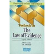 Textbook on the Law of Evidence, by M. Monir