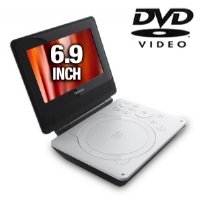 Toshiba SDP74S 7-Inch Portable White DVD Player (White)