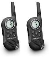 Comprar Motorola MOT-12101 - Walkie-Talkie (8 canales, monitor de frecuencia, temporizador), Negro y Plateado