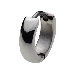 [Pierced stainless steel Accessories: stainless steel piercing shell round hoop mens - 0 - women's cenote-e5011