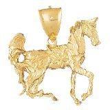 CleverEve 14K Yellow Gold Pendant 3-D Horse 17.5 Grams