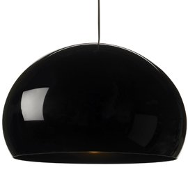 Kartell Fly Pendant Shade Black by Ferruccio Laviani