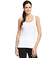 M&S Collection Lightweight Ribbed Vest Top