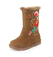 Walkmates Leather Embroidery Boots