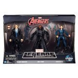 Hasbro Marvel Legends Infinite Series Action Figure Set, Agent Coulson, Nick Fury, And Maria Hill, 3-Pack, 6 Inches