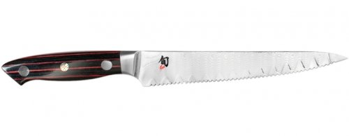 Shun Reserve ND0722 Serrated Utility Knife, 6-Inch (Crimson Bread Knife compare prices)