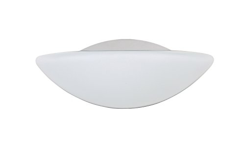 Besa Lighting 1WM-231807-CR 1X60W G9 Jamie Wall Vanity Light Fixture with Opal Matte Glass, Chrome Finish