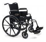 Traveler L4 Lightweight Wheelchair Front Rigging: Swingaway Footrest, Arm Type: Flip Back Desk Arm, Seat Size: 20