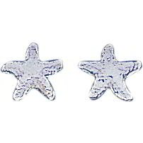 Sterling Silver Starfish Earrings Sea Life Jewelry