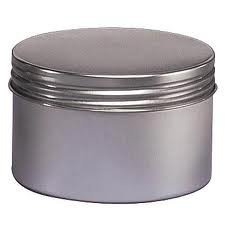 8 Oz Seamless Deep Body Tin with Screw on Lids - Set of 4 (Metal Container With Lid compare prices)