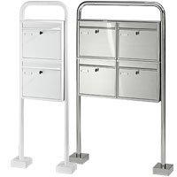 edelstahl briefkasten freistehend g nstig kaufen. Black Bedroom Furniture Sets. Home Design Ideas