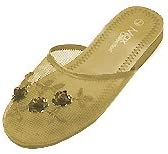 Mesh Chinese Slippers for weddings And Casual Wear Gold