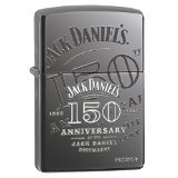 Zippo Jack Daniel's 150th Anniversary Black Ice Pocket Lighter