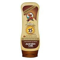 Australian Gold Sunscreen Lotion with Kona Bronzer, SPF 15, Tropical, 8 oz Pack of 2