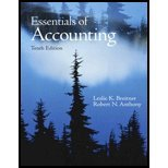 Essentials of Accounting (10th, 10) by Anthony, Robert N - Breitner, Leslie K [Paperback (2009)]