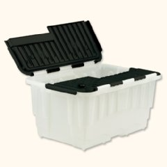 Strata Storage Box Duracrate Crate Plastic 40 Litre W570xH390xH290mm Clear-Silver Ref HW390SVR [Pack of 5]