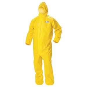Coveralls, Hooded, Bound Seams, 2XL, PK 12