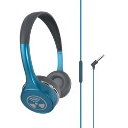 ZAGG ifrogz Audio - Ear Pollution IFEPTP-TQ0 Toxix Plus with Mic (Turquoise)