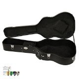 ChromaCast CC-ADHC-KIT-3 Acoustic Dreadnought Hard-Shell Guitar Case with Pick Sampler