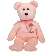 TY Beanie Baby - OHIO SCARLET CARNATION the Bear (Show Exclusive)