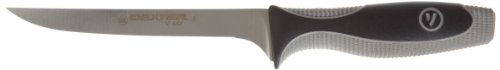 "V-Lo V136N-Pcp 6"" Narrow Boning Knife With Gray Soft Handle"