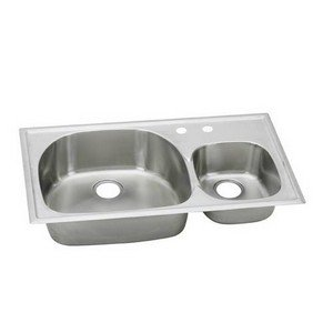 Elkay ECGR4022105 Harmony Deep Bowl Triple Basin Kitchen Sink