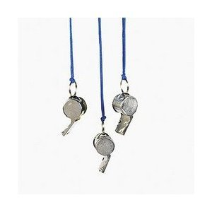 Metal Kids' Whistles (Package of 12) - 1