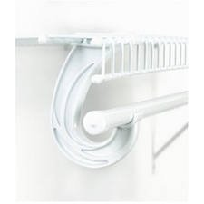 ClosetMaid Support for SuperSlide Hanging Bar, White #5629 image