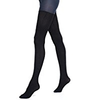Opaque Run Resist Cable & Textured Tights