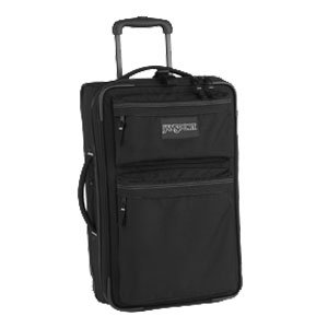 Jansport Expandable Upright Travel Luggage (Black, 24-Inch) top deals
