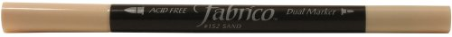 Tsukineko Dual-Ended Fabrico Marker Color-Fast, Sand
