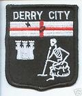 Derry City Londonderry Northern Ireland Flag Embroidered Patch Badge