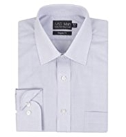 2in Longer Cotton Rich Easy to Iron Checked Shirt