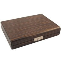 Visol timber Ebony Wood Travel Cigar Humidor With Humidifier: Home & Kitchen