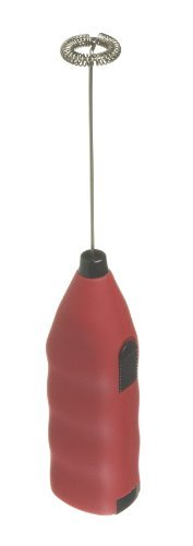 Grosche Ez Latte Battery Operated Milk Frother and Matcha Whisk (Red)