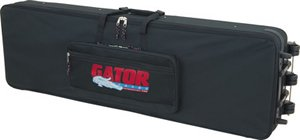 Gator 88-Note 54x15x6 inches Slimline Lightweight Keyboard Case On Wheels