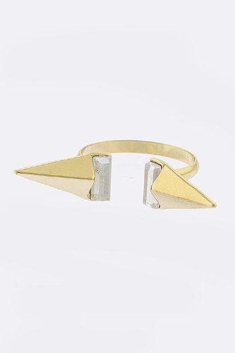 Contempo Couture Spike Tip Ring (Gold)