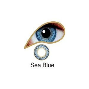Coloured Contact Lenses with Free Solution & Case - Sea Blue (3 Months)