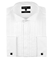 Autograph Pure Cotton Slim Fit Varied Pleated Dinner Shirt