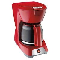 Hamilton Beach 43603 12 Cup Coffeemaker Red Automatic Pause Serve